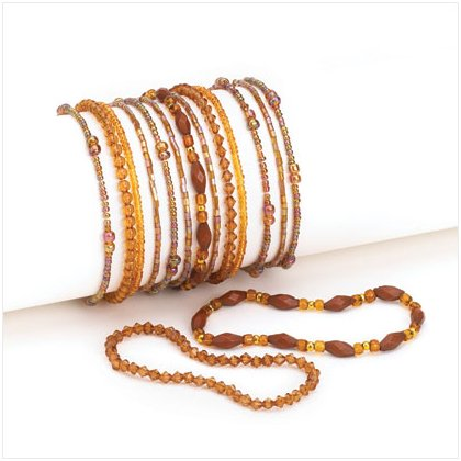 36948 Brown Stretch Bracelets