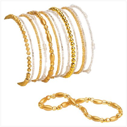 36949 Gold Stretch Bracelets