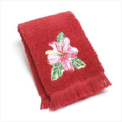 36848 Hula Red Fingertip Towel
