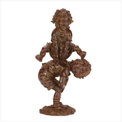 34260 Leapfrogging Children Garden Statue
