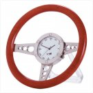 33105 Wood Racer Steering Wheel Clock