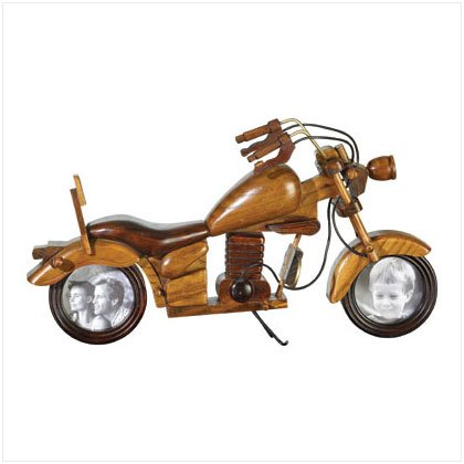 35657 Wood Motorcycle Photo Frame