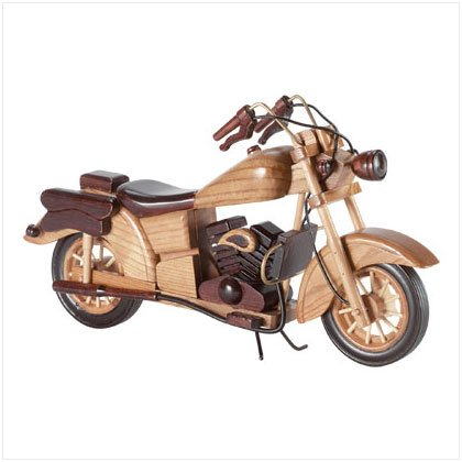 33199 Wood Model Motorcycle