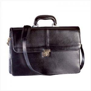 25295 Black Top Grain Briefcase