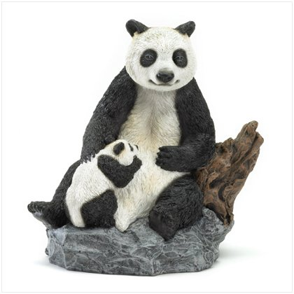 36990 Panda Bear and Cub Figurine