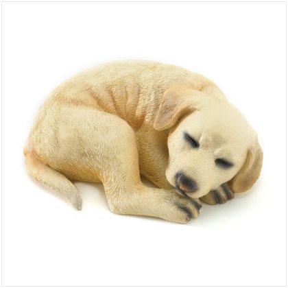 36992 White Lab Puppy Figurine