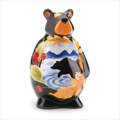 37005 Ceramic Bear Bank