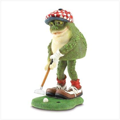 37009 Golfing Frog Bobble Figurine