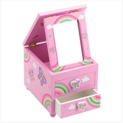 37028 Butterfly Drawer Jewelry Box
