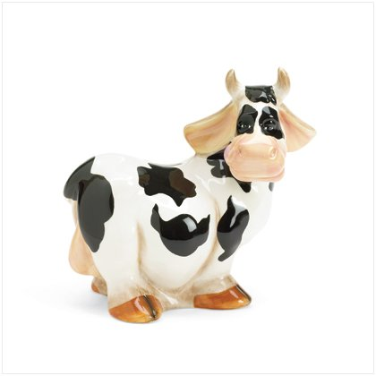 37059 Ceramic Cow Coin Bank