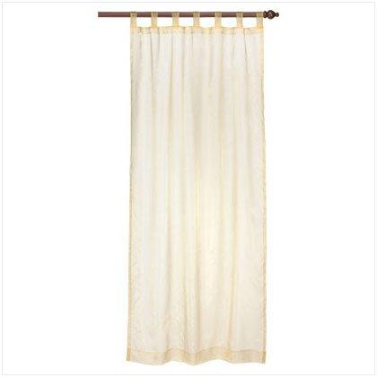 37063 Gold Organza Tab Top Curtain