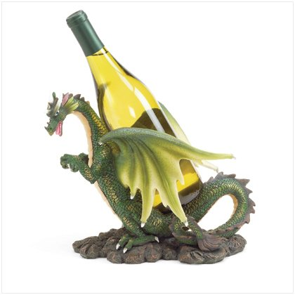 37074 Green Dragon Wine Bottle Holder