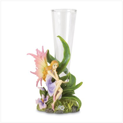 37081 Purple Fairy with Orchid Vase