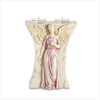 37147 Bas-Relief Angel Votive Holder