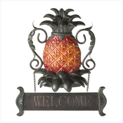 37184 Pineapple Welcome Plaque