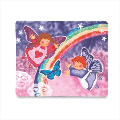37192 Butterfly Angel Fleece Blanket