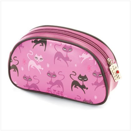 37258 Kitten Makeup Bag