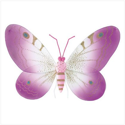 37259 Pink Butterfly Wall Decor