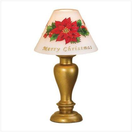 35756 Poinsettia Candle Lamp