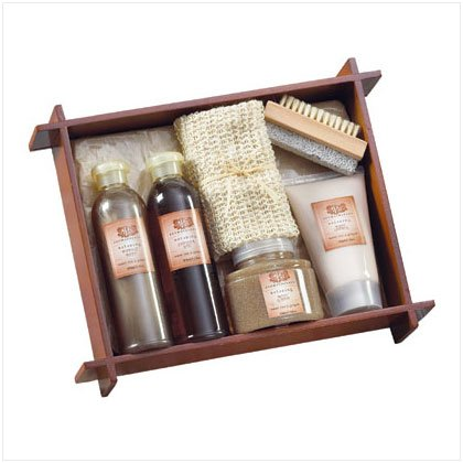 36398 Tea & Ginger Bath - Wood Tray