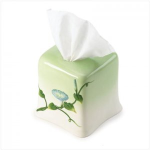 36196 Morning Glory Tissue Box Holder