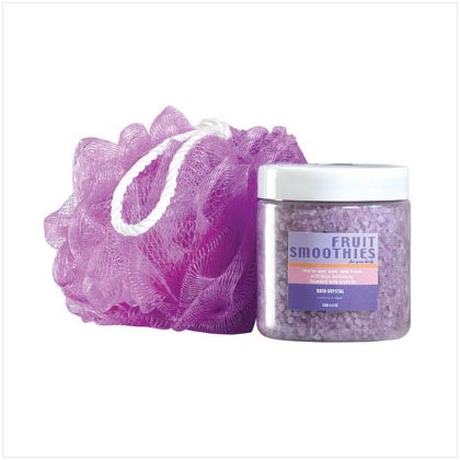 36391 Purple Bath Crystals Scrub Set