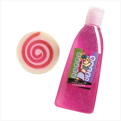 36389 Strawberry Shower Gel Soap Set