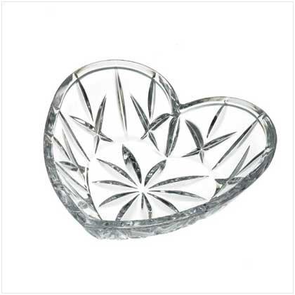 36973 Gorham Crystal Heart Dish