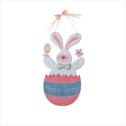 35111 Happy Spring Bunny Plaque