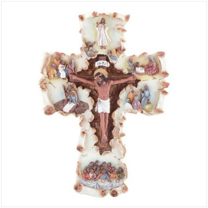 35298 Life of Jesus Scroll Cross