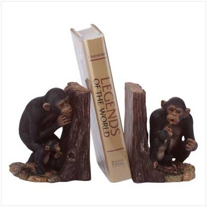 35190 Hide 'n Seek Monkey Bookends