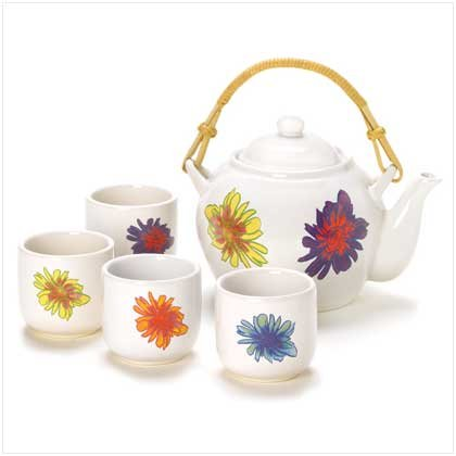 41221 Teapot And Set Of 4 Tea Cups