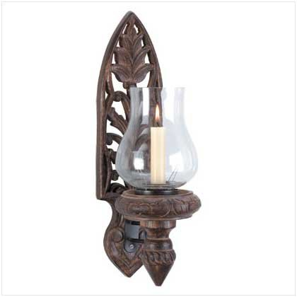 34007 Hurricane Lamp Wall Sconce