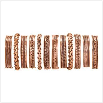 29514 12-Piece Assorted Copper Bracelets (Retail - 5.95ea.)