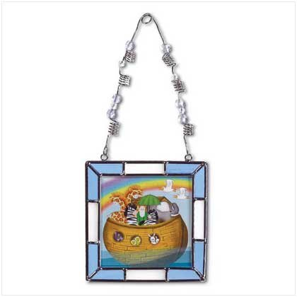 38127 Stained Glass Noah's Ark Frame