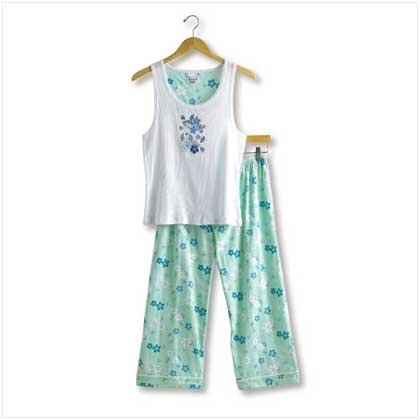 38116 Hawaiian Print Tank PJ Set - Large