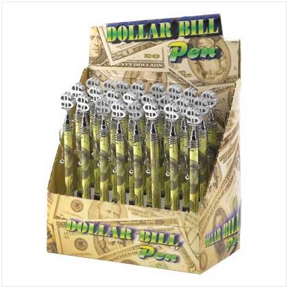 38182 2 DZ Dollar Bill Pens (Retail Price $2.49 each)