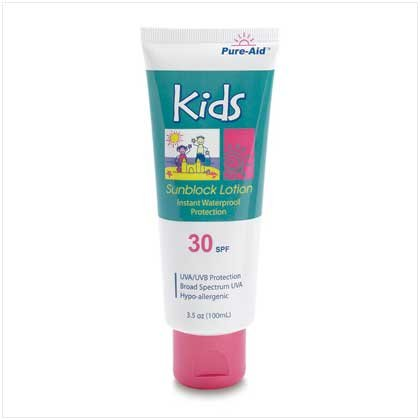 38395 Kid's Sunblock - Pure-Aid - 3.5 oz.