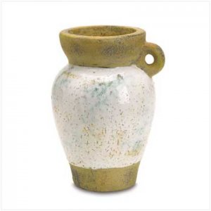 37748 Distressed One Handled Vase