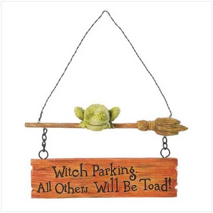 37199 Toad and Broomstick Wall Decor