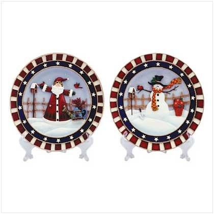 34579 Christmas Plate Set