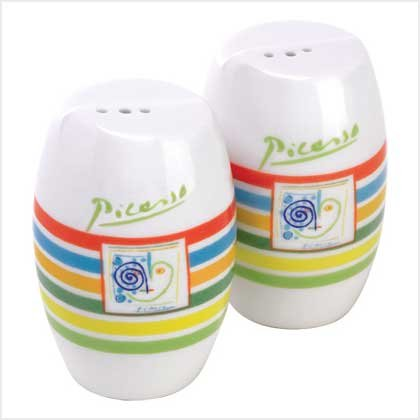 38314 Salt and Pepper Shakers - Picasso Lines