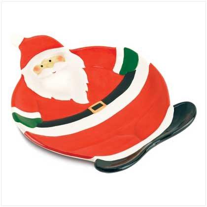 38603 Smiling Santa Serving Plate