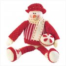38239 Sitting Snowman Plush Figurine