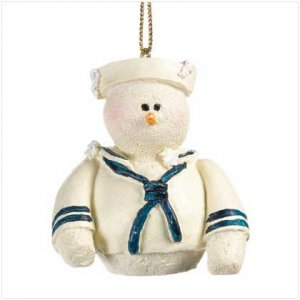 37225 Snowberry Cuties Navy Ornament