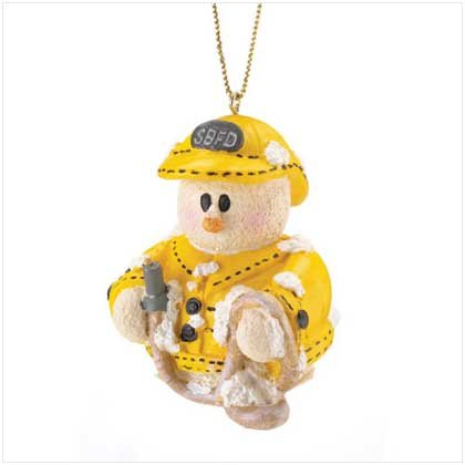 37222 Snowberry Cuties Fireman Ornament