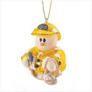 37222 Snowberry Cuties Fireman Ornament