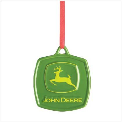 38310 John Deere Logo Ceramic Ornament