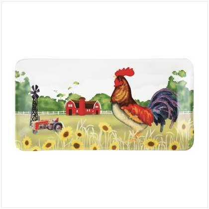 37490 Rooster Serving Platter