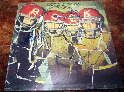 """THE WHO    autographed   SIGNED   """" Odds """"   RECORD           *proof"""
